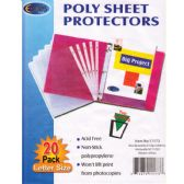 72 Units of Poly Sheet Protectors, 20 Ct.