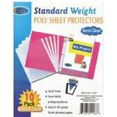 100 Units of Poly Sheet Protectors, 10 Ct.