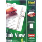 48 Units of POSTFAX Quick View Tab Dividers 5pk.w/wrap around labels