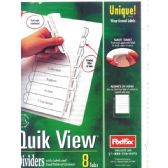 48 Units of POSTFAX Quick View Tab Dividers 8pk.w/wrap around labels