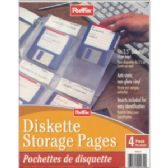 40 Units of POST FAX Diskette Storage Pages 4pk.