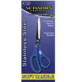 "48 Units of Professional Home & Office Scissors, Soft Handles, 7"" - Scissors"
