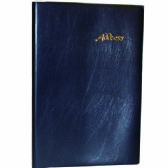 48 Units of Vinyl Address Book, 5 x 7, Asst. Colors - Card Holders and Address Books