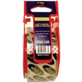 "48 Units of Packing Tape, Crystal Clear, 1.89"" x 55 Yds, With 5.5"" Dispenser"