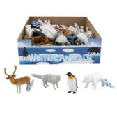 36 Units of Animal Figurines 4ast Winter In 36pc Pdq/ht 10ea Penguin/bear 8ea Deer/wolf