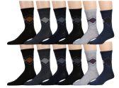 120 Units of Mens Argyle Fashion Dress Socks, Cotton Size 10-13