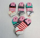 60 Units of Womens Cotton Blend Stripe And Stars Ankle Socks