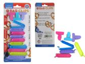 96 Units of 13 Pc Bag Clips In Assorted Sizes & Colors - CLIPS/FASTENERS