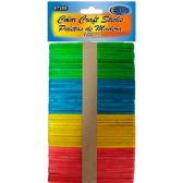 48 Units of Assorted Colors Craft Sticks - 100 Count - Craft Wood Sticks and Dowels