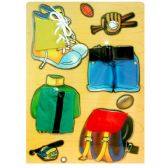 48 Units of Childrens Wooden Puzzles, Asst. 'Dress-up' Designs