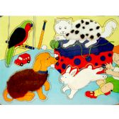 48 Units of Wooden Puzzles, Asst. Animal Designs