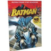 48 Units of BATMAN Sticker Story adventure 40 stickers included - Licensed School Supplies