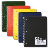 48 Units of Wire Notebook - 3 Subject Notebook - Notebooks