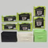 36 Units of Collapsible Storage Container Nonwoven 3sizes/3colors Bulk Home Polybag/insert