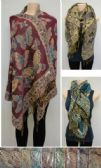 36 Units of Fashion Pashmina Scarf with Fringe--Metallic Butterflies