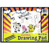 48 Units of Jumbo Drawing Pad, 9x12, 30 sheets - Sketch, Tracing, Drawing & Doodle Pads