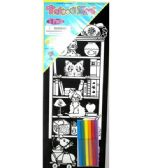 "48 Units of Velvet Art with 6 Markers, 7.5""x 19"" - Sketch, Tracing, Drawing & Doodle Pads"