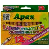 48 Units of 12 Count Large Crayons - Chalk,Chalkboards,Crayons