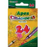 48 Units of 24 Count APEX Crayons