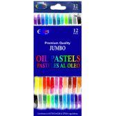48 Units of Jumbo Oil Pastels 12 Pack - Art Paints