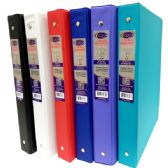 "36 Units of Vinyl binder, 1"", 2 pockets, assorted colors - Clipboards and Binders"