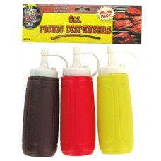 36 Units of 3 Pk 6OZ Picnic Dispenser Bottles Plastic - Drinkware