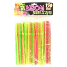 75 Units of Neon party straws - Straws and Stirrers