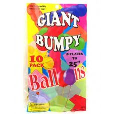 72 Units of Giant bumpy balloons (10 pack) - Balloons & Balloon Holder