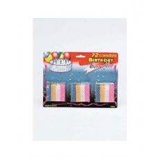 72 Units of Birthday candle value pack - Birthday Candles