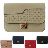 36 Units of Large Two Pocket Cell Phone Cross Body Bag With An Alluring Laser Cut Design - Shoulder Bags & Messenger Bags