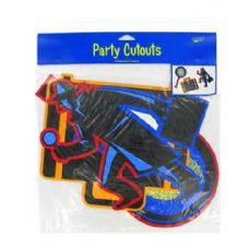 288 Units of party cut outs 3 assorted per pack