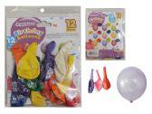 96 Units of 12pc Happy Birthday Balloons - Balloons & Balloon Holder