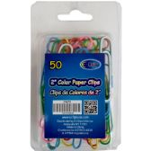 "48 Units of Paper Clips, 2"", 50 Ct., Asst. colors - Clips and Fasteners"