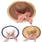 24 Units of WOMEN'S RIBBON SUMMER SUN HAT