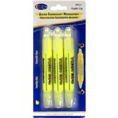 48 Units of 3 Pack Fluorescent highlighters - Markers and Highlighters