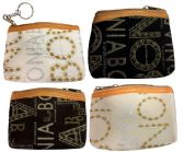 48 Units of Wholesale Coin Purse w/ zipper gold glitter letter - Coin Holders & Banks