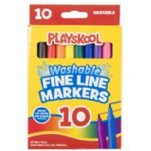 48 Units of Playskool Markers 10ct Fineline Washable Window - Markers and Highlighters
