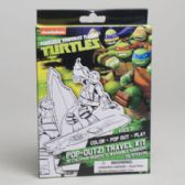 64 Units of Travel Kit Teenage Turtles 8pc Pdq Tray Boxed 10 Boards