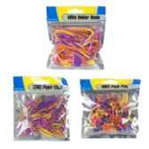 96 Units of 3 Asst Resealable Stationary Packs - Rubber Bands