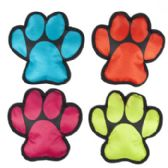 36 Units of Dog Toy Canvas W/squeaker Paw Shape Design 4 Colors