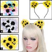 288 Units of SILK FLOWER CAT EARS HEADBANDS. - Costumes