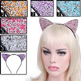 288 Units of GLITTER & GEMSTONE CAT EARS HEADBANDS - Costume Accessories