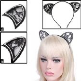 288 Units of CRYSTAL TRIM CAT EARS HEADBANDS - Costume Accessories