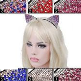 288 Units of MULTICOLORED GEMSTONE CAT EARS HEADBANDS