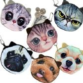 120 Units of CAT AND DOG COIN PURSES - Leather Purses and Handbags