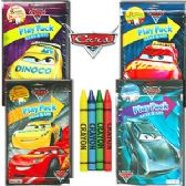72 Units of DISNEY'S CARS PLAY PACKS - GRAB & GO - Coloring Books