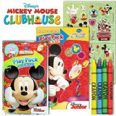 72 Units of DISNEY'S MICKEY MOUSE PLAY PACKS - GRAB & GO - Coloring Books