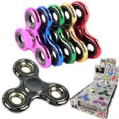 72 Units of HIGH QUALITY METALLIC COLORS HAND SPINNERS. - Fidget Spinners