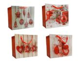 144 Units of Christmas Gift Bags M W/Glitte - Christmas Gift Bags and Boxes