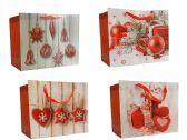 144 Units of Large Christmas Gift Bags W/Glitter